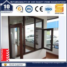 Doppelverglasung Außenöffnung Aluminiumflügelfenster