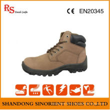 Fashionable Nubuck Leather Safety Boots for Women RS047