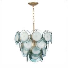 Bule Glass Modern Chandelier