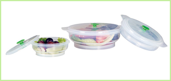 New Products Silicone Folding Lunch Box