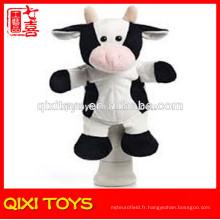 étui à crayons de vache en peluche