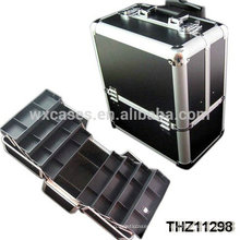 professionelle Aluminium-Kosmetik rolling Fall mit 8 Fächern innerhalb von Foshan