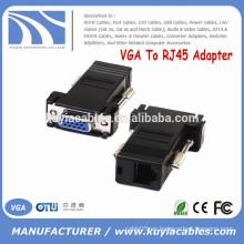 VGA caliente a la hembra del VGA del adaptador RJ45 a CAT5 CAT6 Conectador femenino