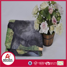 Chaud Doux Motif Cheval Imprimé Animal Mirco Mink Couverture Retour Sherpa Polaire Couverture