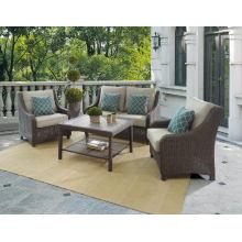 Sofá de salão ao ar livre do jardim vime rattan