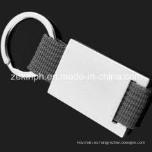 Por encargo cordón Metal llavero disponibles para láser grabado de logotipo