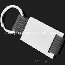 Custom Made métal Lanyard Keychain disponible pour Laser gravé Logo