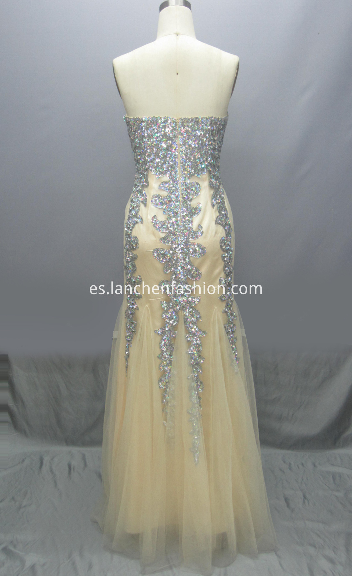 Sweetheart Long Dress back