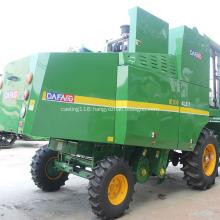self-propelled wheat combine harvesting
