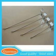 Fácil em itens de flagship de itens ganchos de slatwall de fio de aço inoxidável