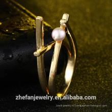 оптовая изготовление ювелирных изделий экстравагантный дизайн жемчужное кольцо