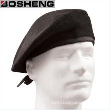 Men′s Wool Military Beret, Custom Winter Black Wool Army Beret