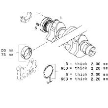 THRUST WASHER BFM2012 02931331 For Deutz diesel engine spare parts WASHER SPACER