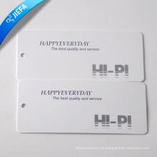 Precio barato Etiqueta de papel simple / Etiqueta de oscilación