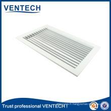 Grille simple de déflexion en aluminium de ventilation de système de la CAHT