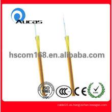 La calidad asegura el cable óptico de interior envuelto apretado de la sola base (GJFJV)