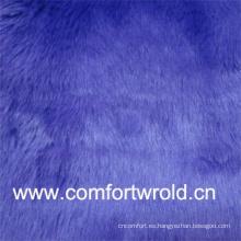 Color brillante 55% acrílico, 45% poliéster Tela de piel sintética en venta