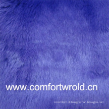 Cor brilhante 55% acrílico, 45% poliéster tecido Faux Fur para venda