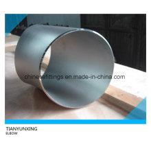 Codo de acero inoxidable de soldadura a tope de 45 gr.