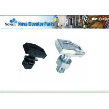 Elevator Guide Rail Clips , T Type  Hot Forged Rail Clips For Elevators, Black Or White Color