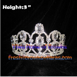 3inch Clear Diamond Pageant Crowns