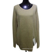 High quality loose 100% cashmere pullover woman sweater