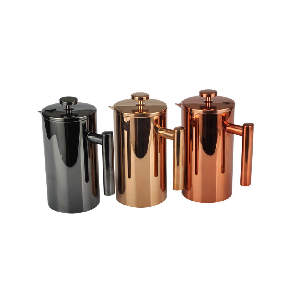 Black Double Wall French Press