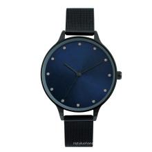 Cheap Alloy case stainless steel mesh strap Diamond dial elegant lady watch