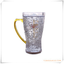 Tasse de bière glacée à double paroi Tasse de bière glacée congelée pour cadeaux promotionnels (HA09070-4)