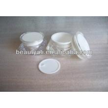 1oz vacía acrílico cosmético frascos transparentes