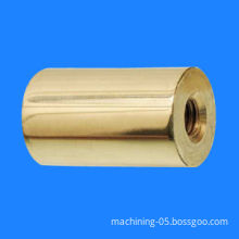 CNC machined round standoff, made of brass or steel material