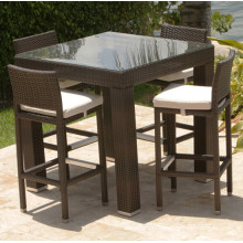 Resin Patio Wicker Garden Outdoor Furniture Bar Stool Set