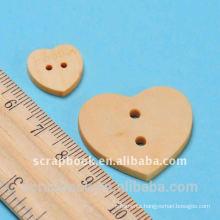 heart woodenbuttons