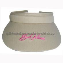 Algodão twill bordado esporte lazer clip-on dom visor (TMV06123)