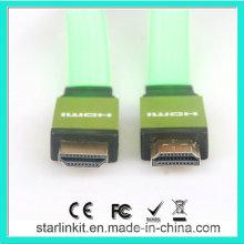 Veste en PVC plat 1.4V 1080P Câble HDMI Vert