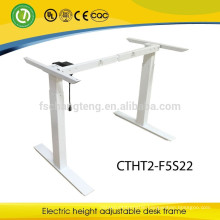 Modern ergonomic height adjustable desk frame metal legs for office furniture