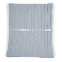 Couverture en cachemire tricotée 100% pure