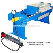 Leo Filter Press 500 Prensa de filtro de tratamiento de aguas residuales pequeña, máquina de presión para capacidad de tamaño