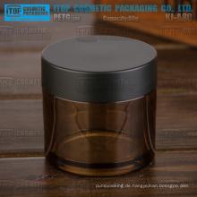 KJ-A80 80g leer Farbe anpassbare dicken PETG Material Bernstein Kosmetik Plastikglas