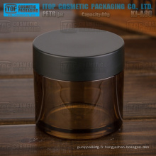KJ-A80 80g couleur vide personnalisable épais PETG matériaux cosmétiques ambre pot plastique
