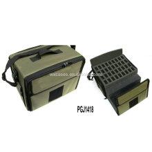 sac à outils en nylon imperméable à l'eau avec différent mousse personnalisée à l'intérieur et de la broderie logo