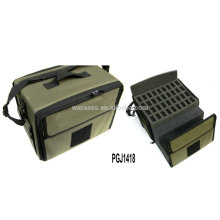 maleta de ferramentas nylon impermeável com espuma personalizado diferente dentro e logotipo bordado
