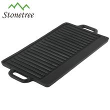 Plaque de cuisson en fonte à l'huile végétale / barbecue grill / batterie de cuisine / poêle à frire