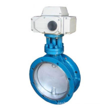 Flanged Stainless Steel Pneumatic Butterfly Valve