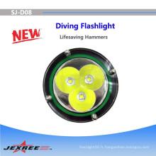 Marteau d'urgence la plus puissante lampe torche à LED lampe de poche lampe à LED lampe de poche police de chasse XM-L2