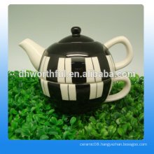 Creative ceramic teapot and cup in one with fashionable style