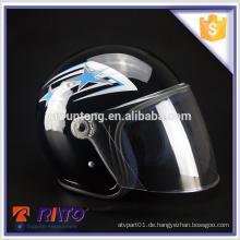 China Großhandel billig schwarz Motorrad halb Gesicht Helm
