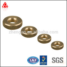 factory custom brass round nut