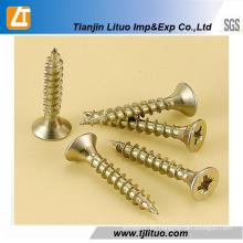 DIN7505 Single / Double Head Zinc plateó los muebles para los tornillos de madera del conglomerado