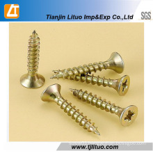 DIN7505 Single/Double Head Zinc Plated Furniture for Wood Chipboard Screws